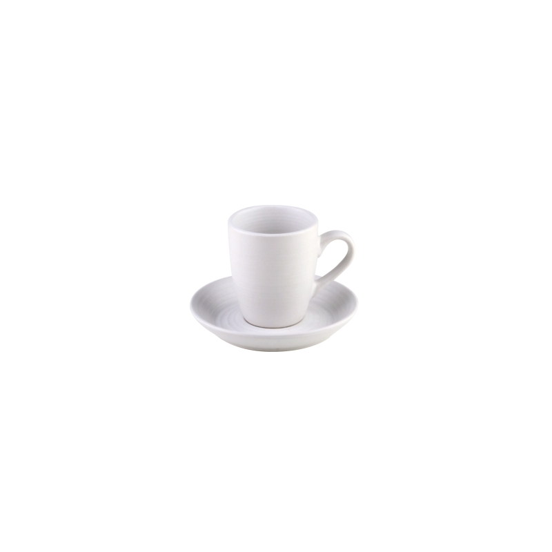 CONJUNTO 4 XICARAS P/CAFE C/PIRES BRANCO 90ML