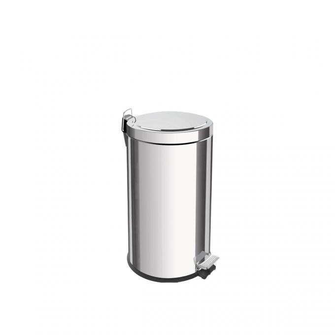 LIXEIRA INOX C/ PEDAL 20 LTS