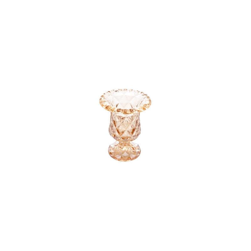 VASO COM PE DIAMOND AMBAR 14,5X11,5CM